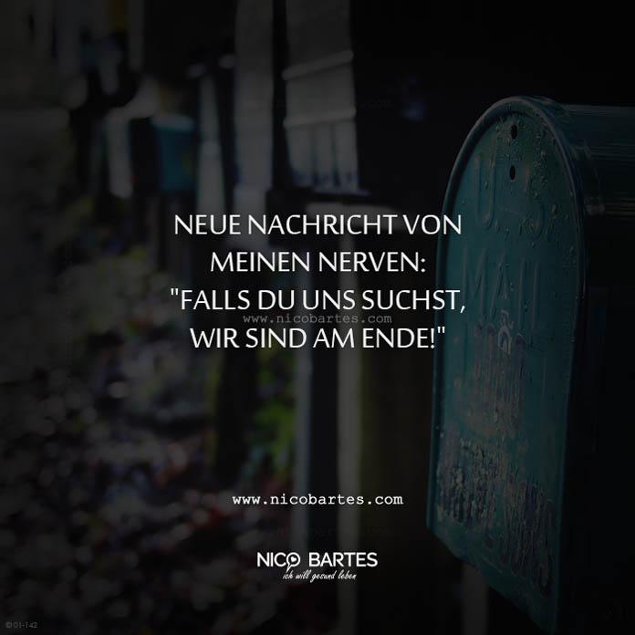 Neue Nachricht von meinen Nerven – Spruch des Tages - Nico Bartes ...
