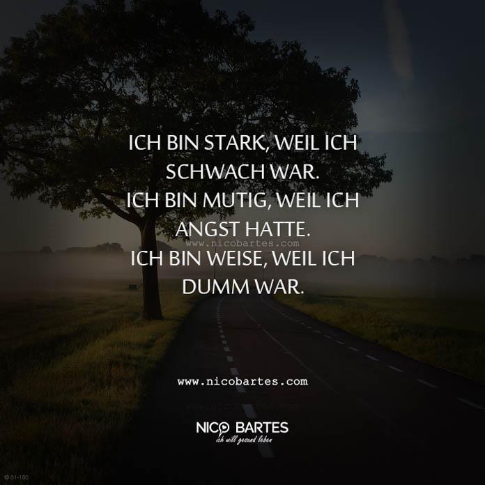 Ich Bin Stark Weil Ich Schwach War Spruch Des Tages Nico Bartes