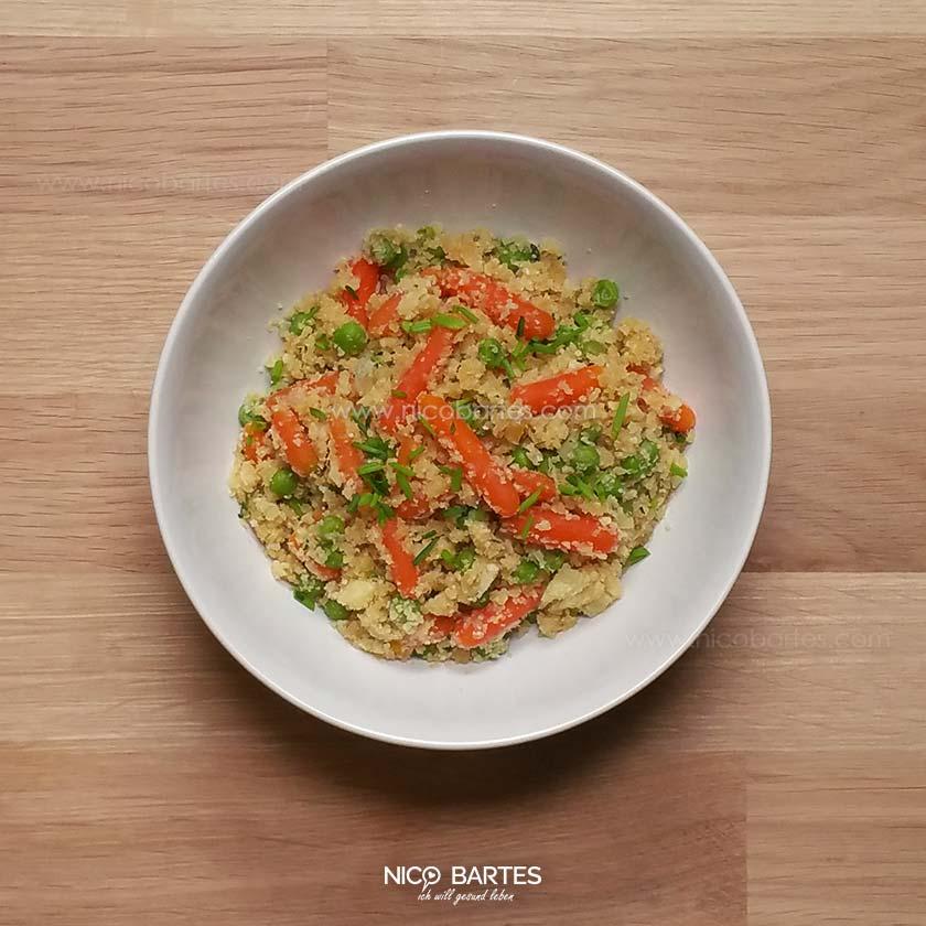 Blumenkohl Reis Mit Gemüse Rezept Low Carb Nico Bartes Schnell