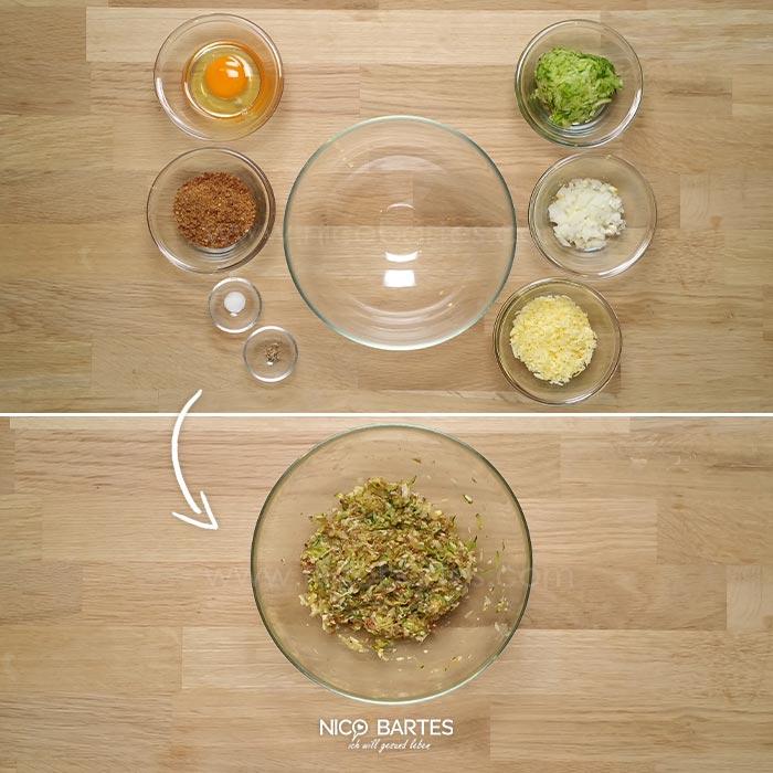 Leckere Zucchini-Nuggets Mit Schnittkäse