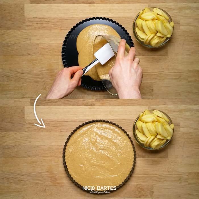 gesunder apfelkuchen schnell und einfach zubereitet nico bartes schnell abnehmen durch. Black Bedroom Furniture Sets. Home Design Ideas