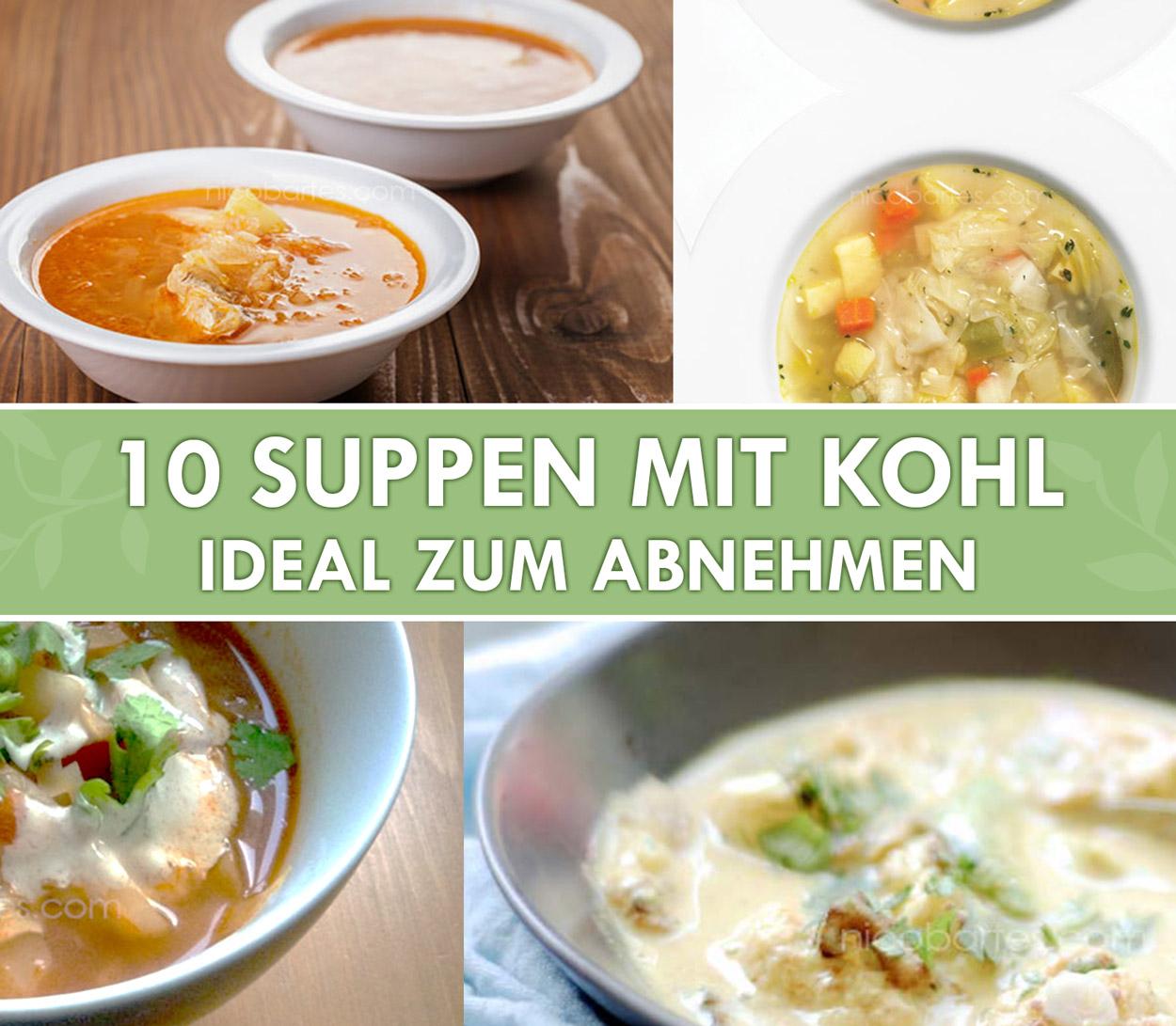 10 einfache Kohlsuppe Rezepte zum Abnehmen
